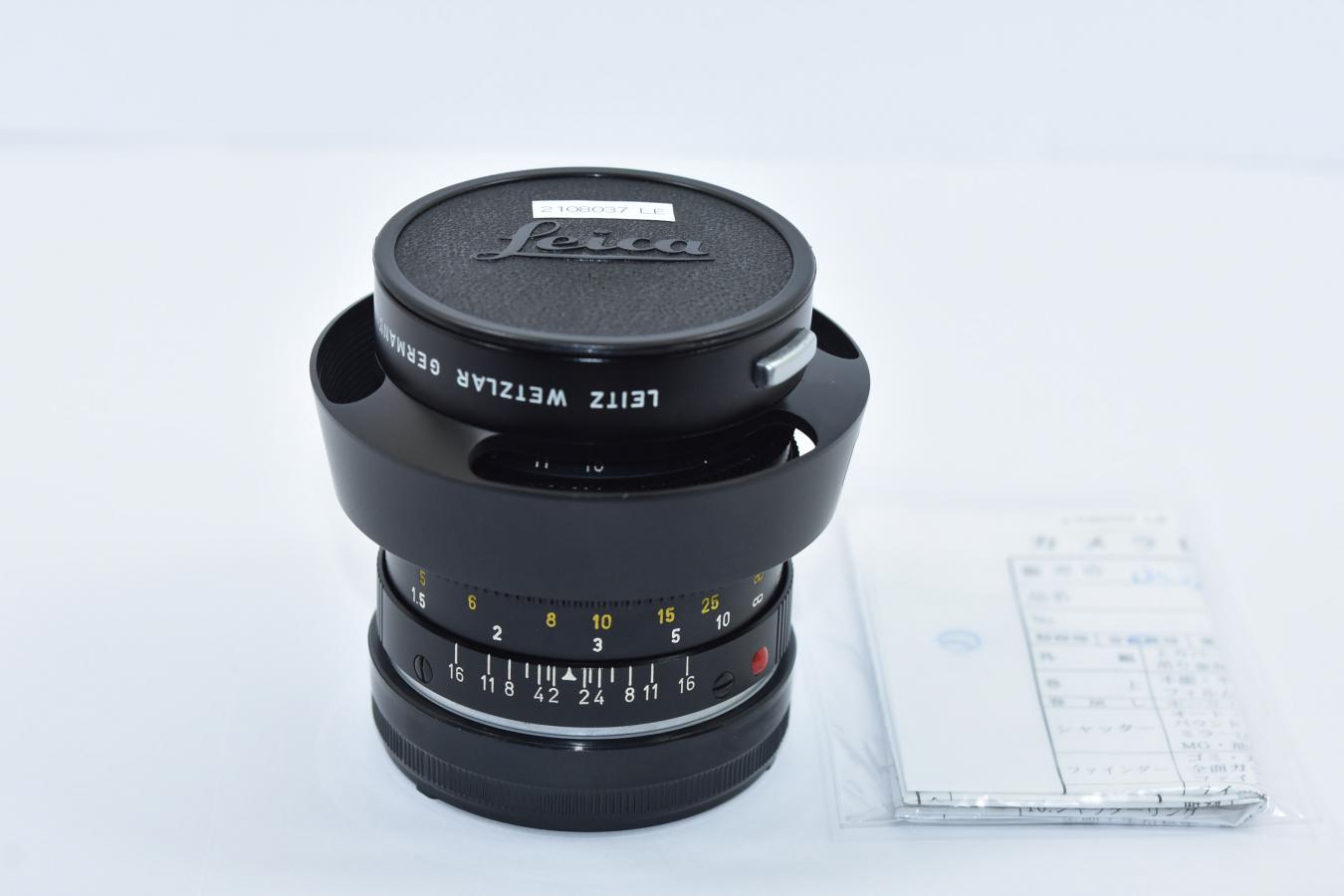 LEICA SUMMILUX-M 50mm F1.4 ブラック 整備済 純正フード12586付 【230万台 1968年製】