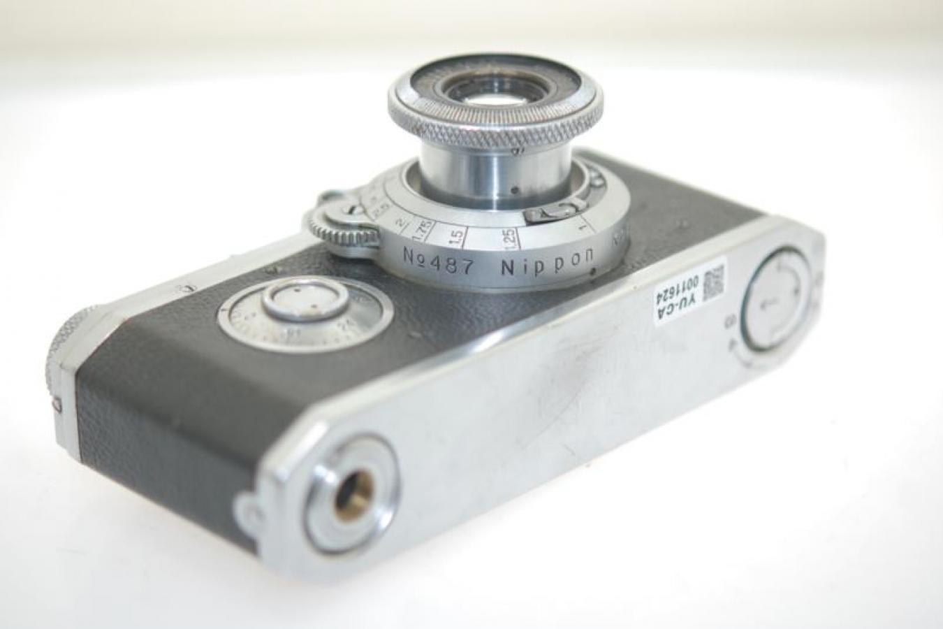 精機光学 HANZA Canon Nikkor 50mm F3.5付 【レンズは黒帯最初期 ボディシリアル?3ケタ】