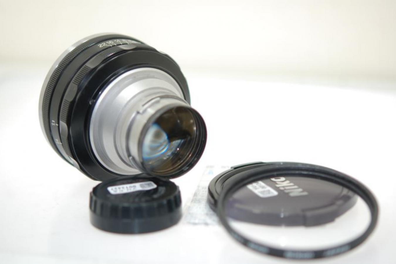 日本光学 NIKKOR-N・C 5cm F1.1 内爪 【OH済 純正62mm L37cフィルター付】
