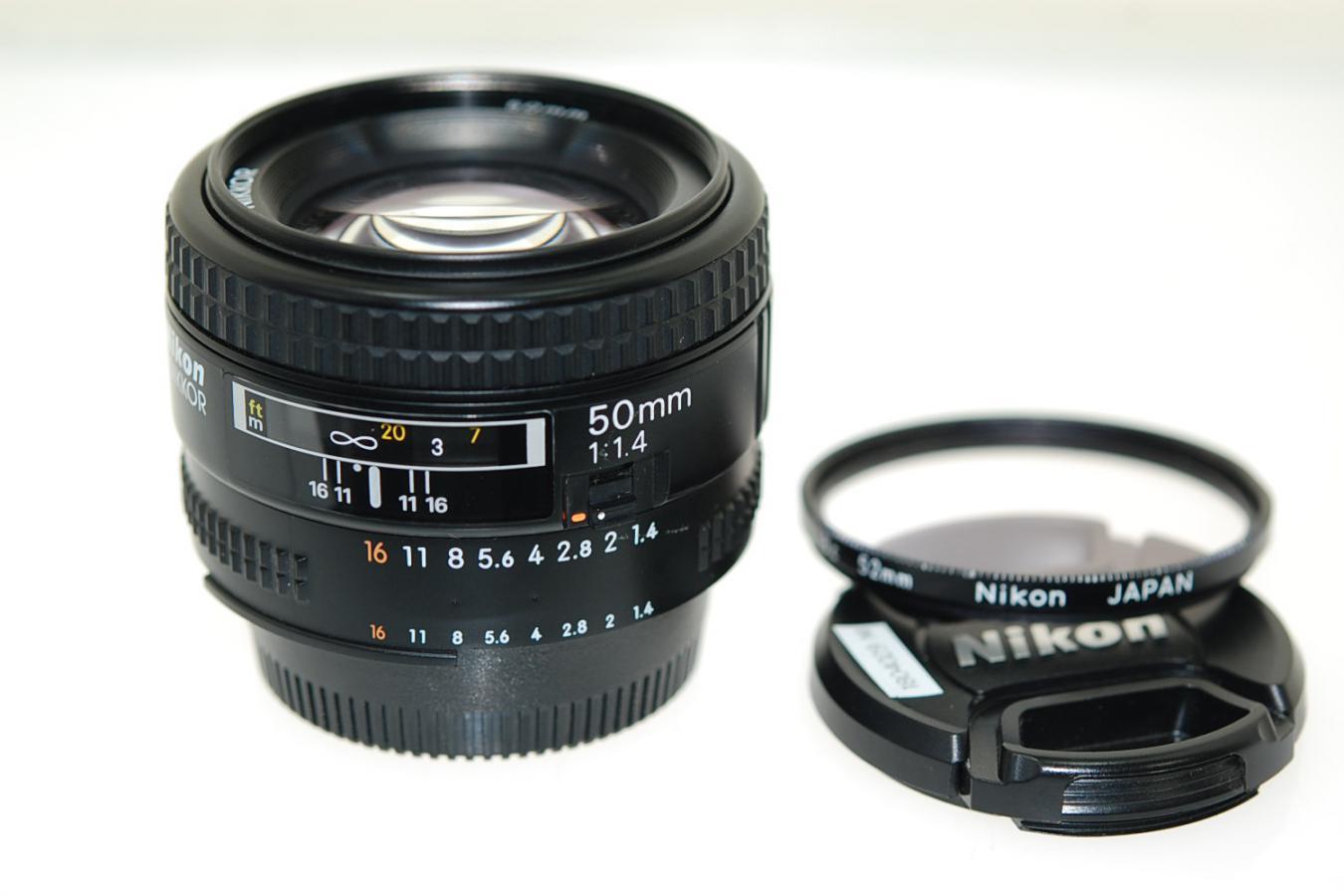 AF NIKKOR 50mm F1.4 【純正52mmL1Bcフィルター付】