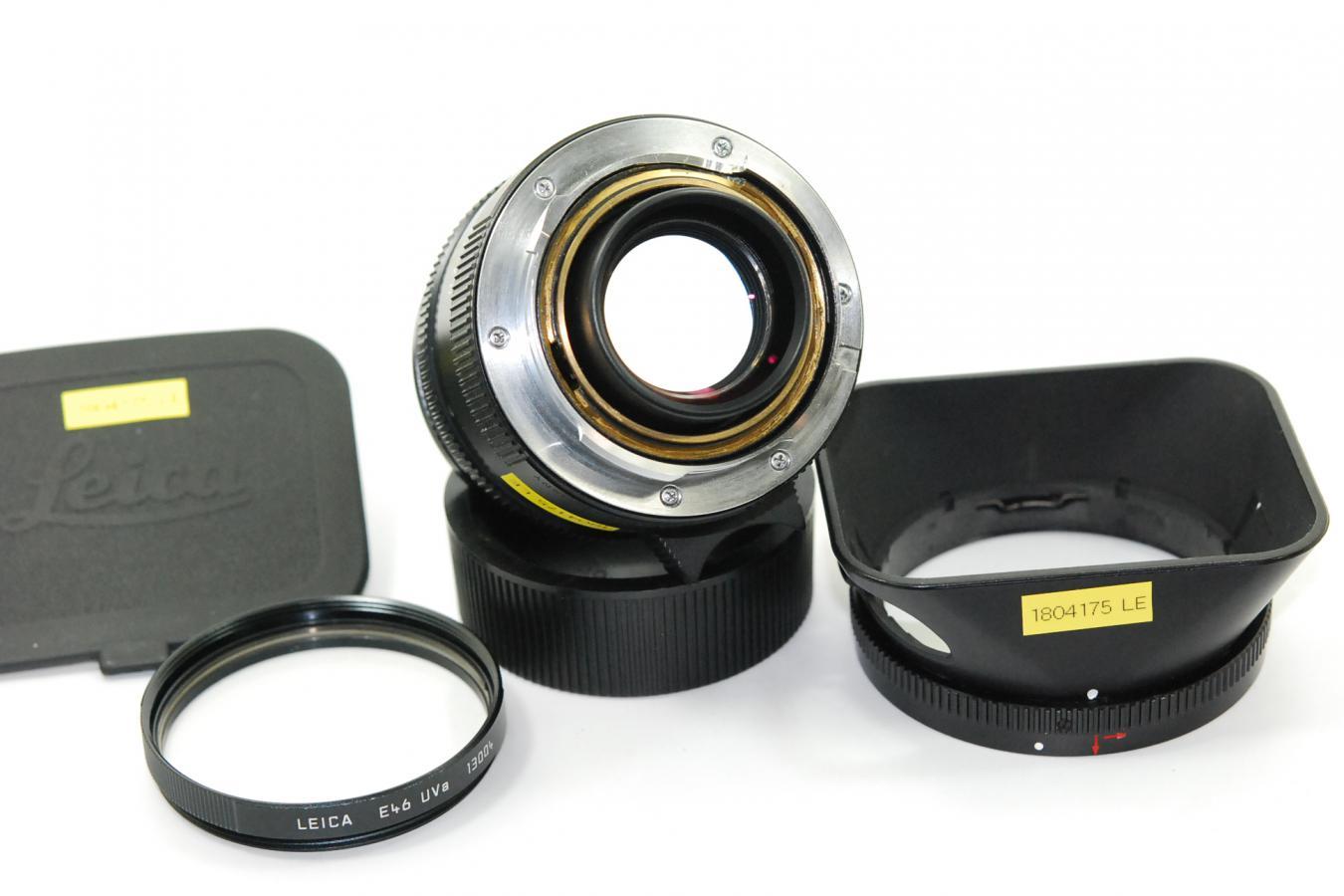 ライカ ズミルックスM 35mm F1.4 ASPH. ブラック 第4世代 【純正フード12589、E46UVa13004フィルター付】