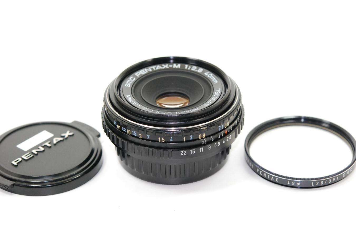 SMC PENTAX-M 40mm F2.8 【純正49mmL39(UV)SMCフィルター付】