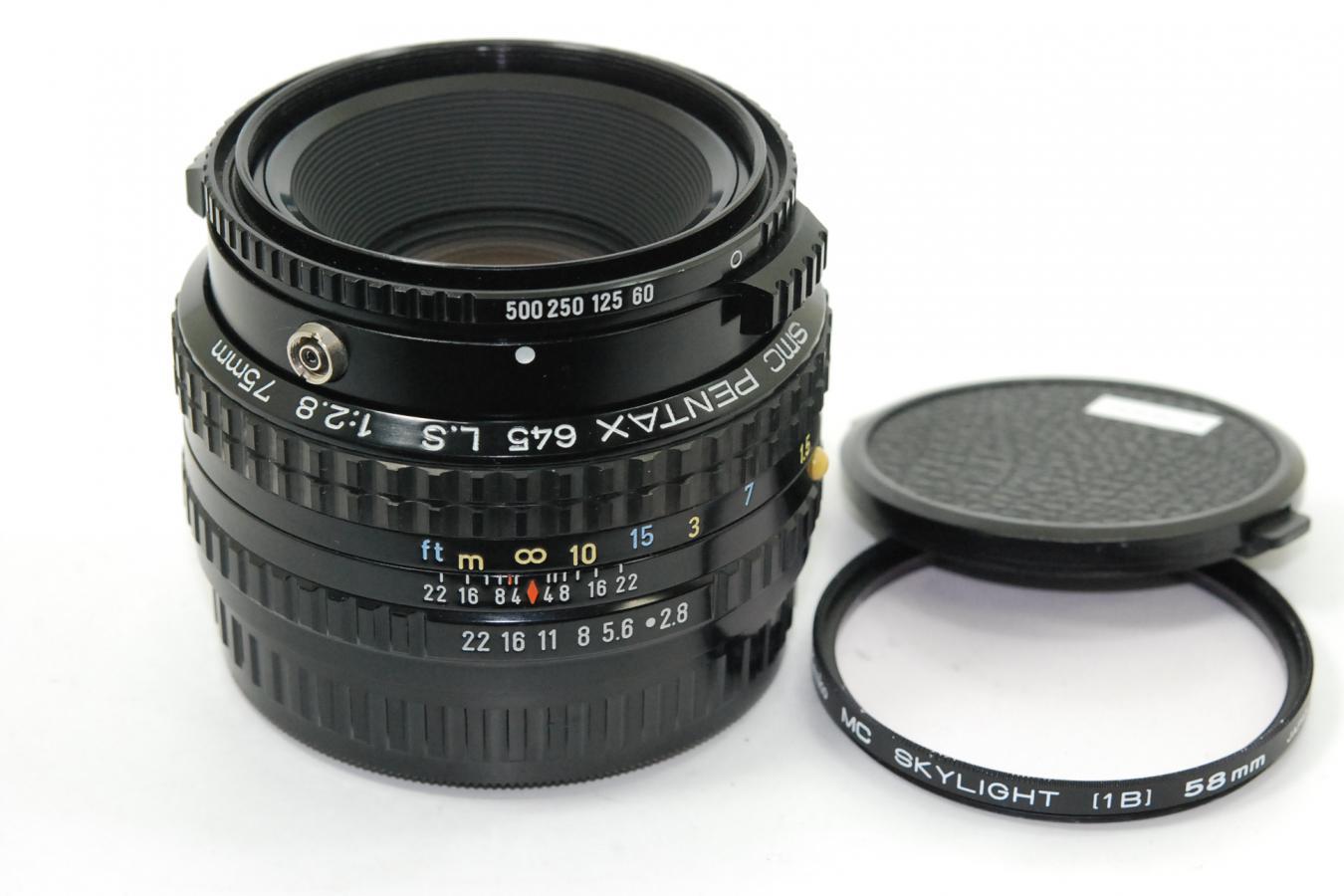 SMC PENTAX 645 L.S 75mm F2.8 【ケンコー製58mmMCスカイライトフィルター付】