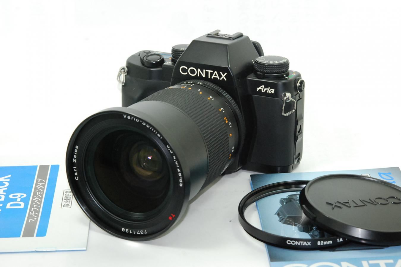 CONTAX Aria D Vario-Sonnar T* 28-85/3.3-4.0MM付 【純正82mm1A MCフィルター、取説付】