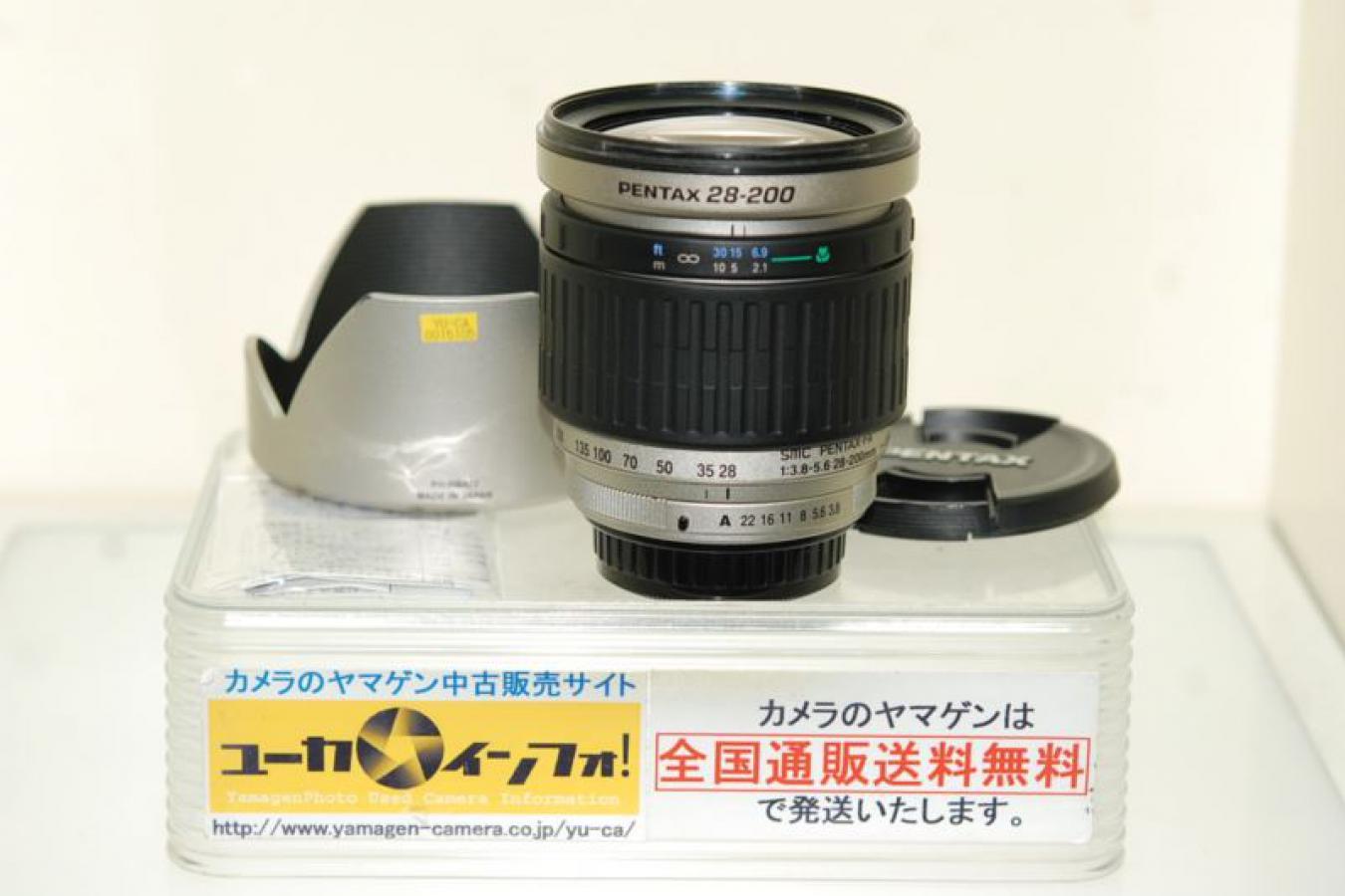 SMC PENTAX-FA 28-200mm F3.8-5.6IF&AL 【整備済 純正フードPH-RBA72付】