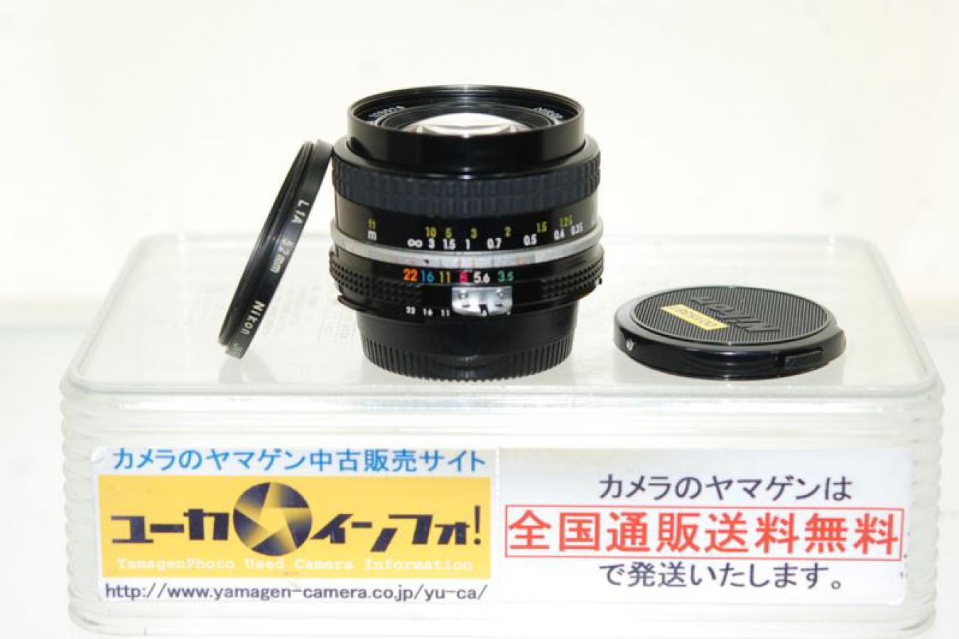 Ai NIKKOR 20mm F3.5 【純正52mmL1Aフィルター付】
