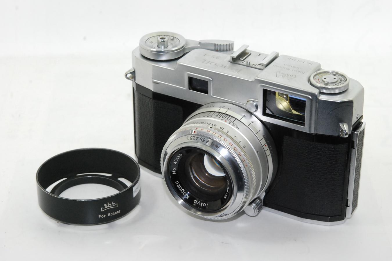 東京光学 Topcon 35-L ワルツ製フード付 【トプコール4.4cm F2 レンズ搭載】