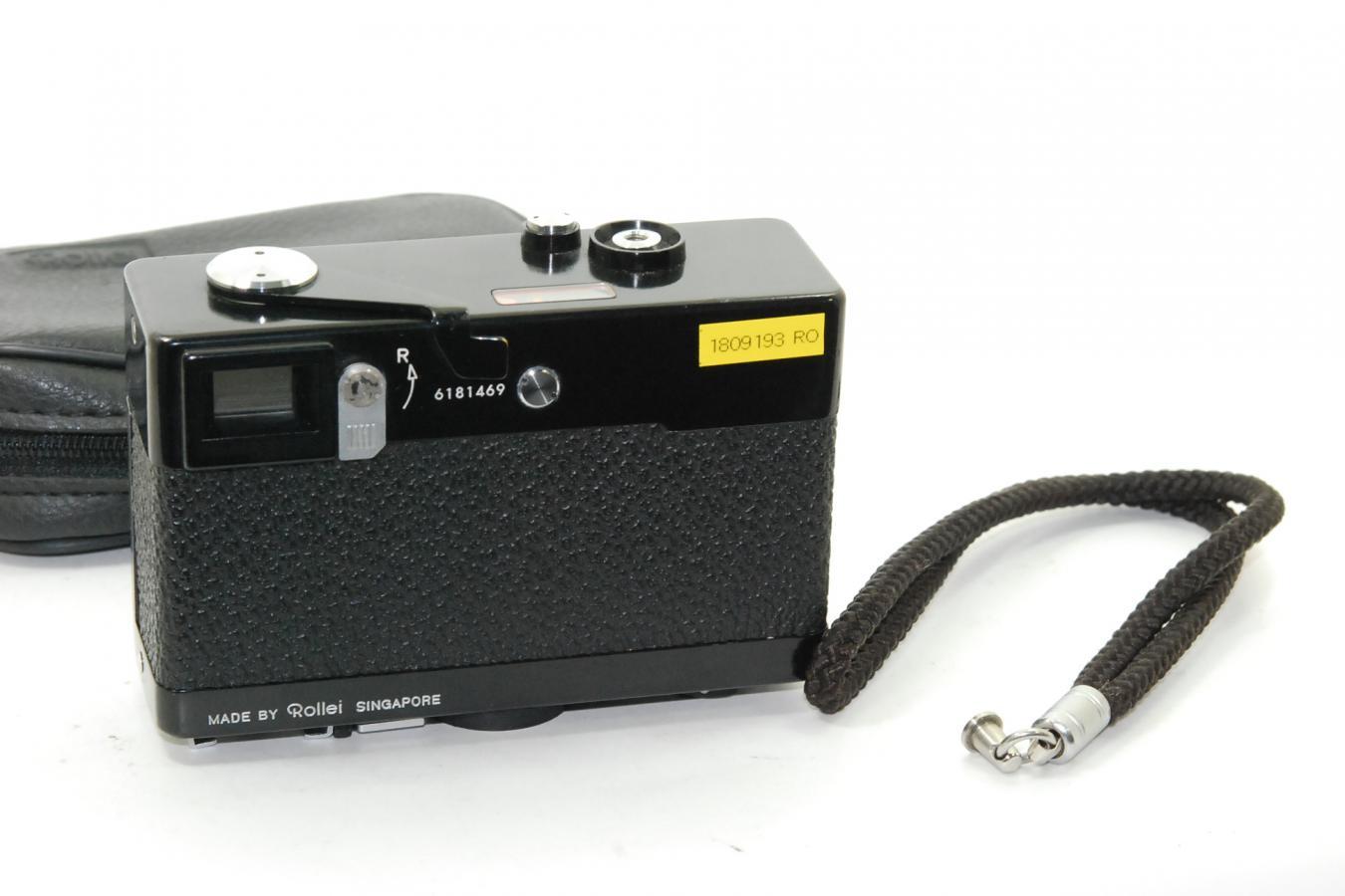 Rollei 35 ブラック 純正ケース、ストラップ付 【テッサー40/3.5レンズ搭載】