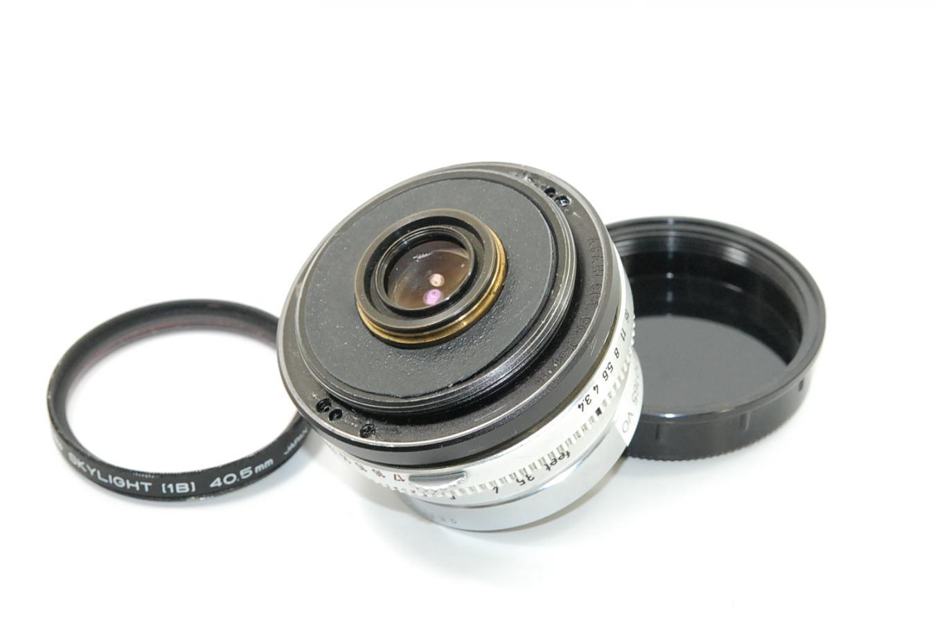 【珍 品】 フォクトレンダー SKOPARET 35mm F3.4 M42改 【ケンコー製40.5mmスカイライトフィルター付】
