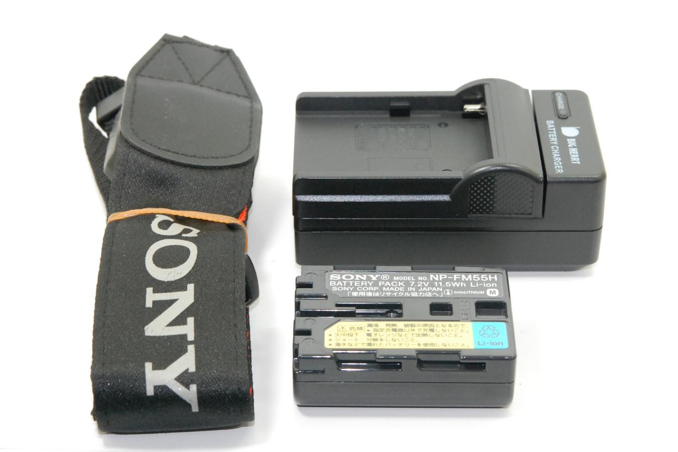 【通信販売限定商品】 SONY α100 DT18-70mm付 【純正フード、ストラップ、充電器、バッテリー付】