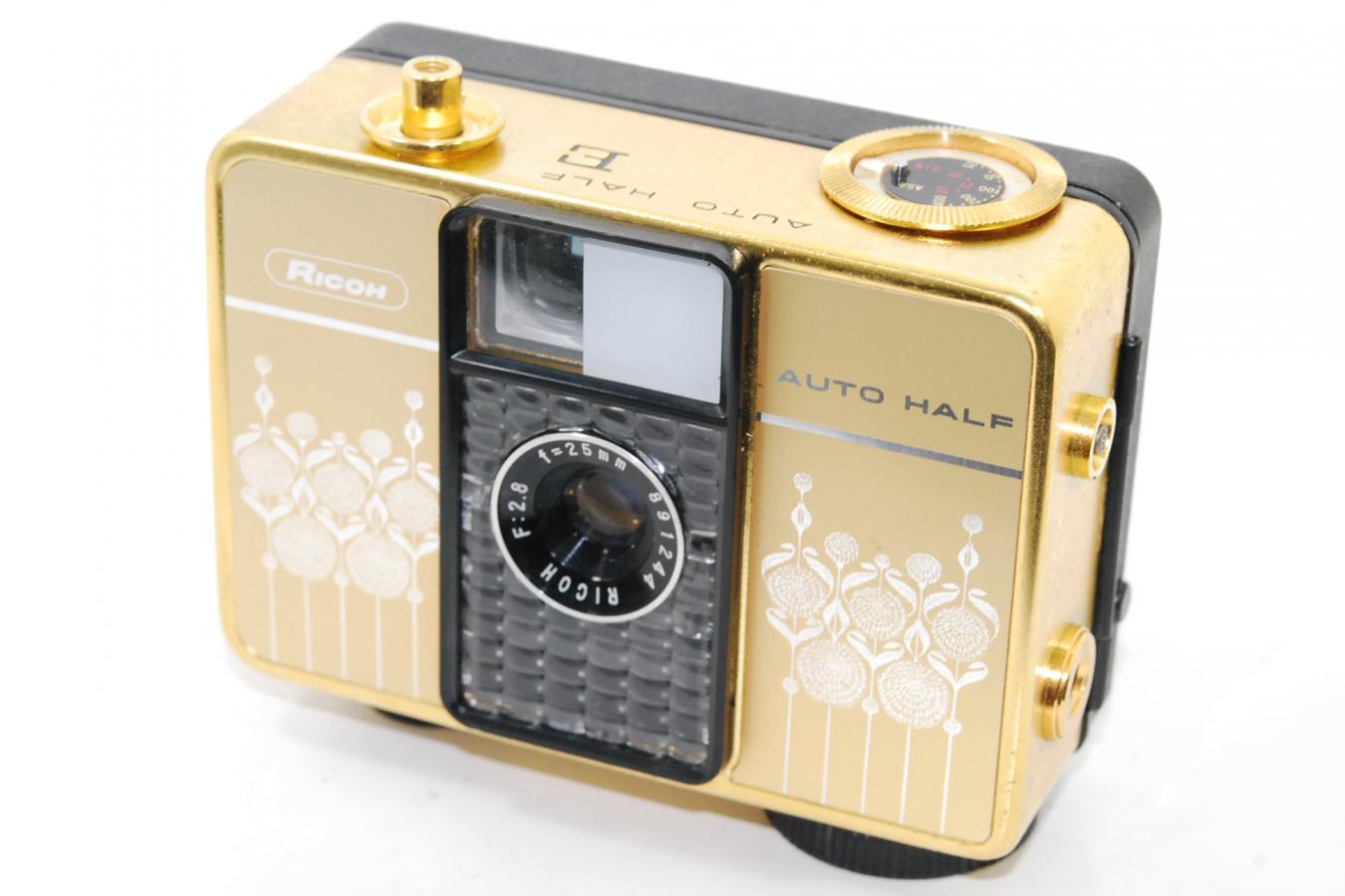 RICOH AUTO HALF E Gold 【RICOH 25/2.8レンズ搭載】