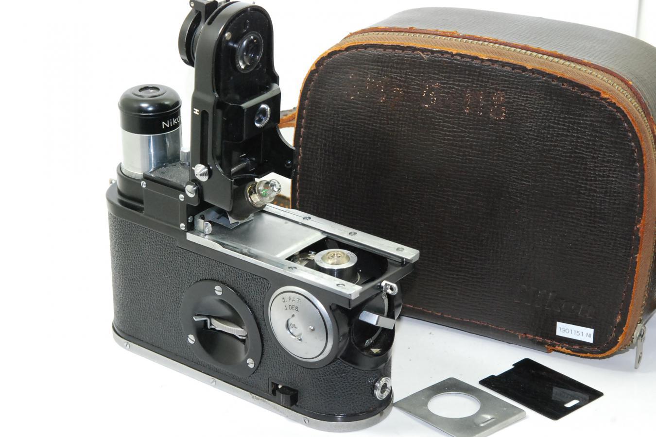 【コレクション向け 珍 品】 ニコン 携帯顕微鏡H型 純正ケース付 【ベトナム戦争で米兵が使用したことで有名】