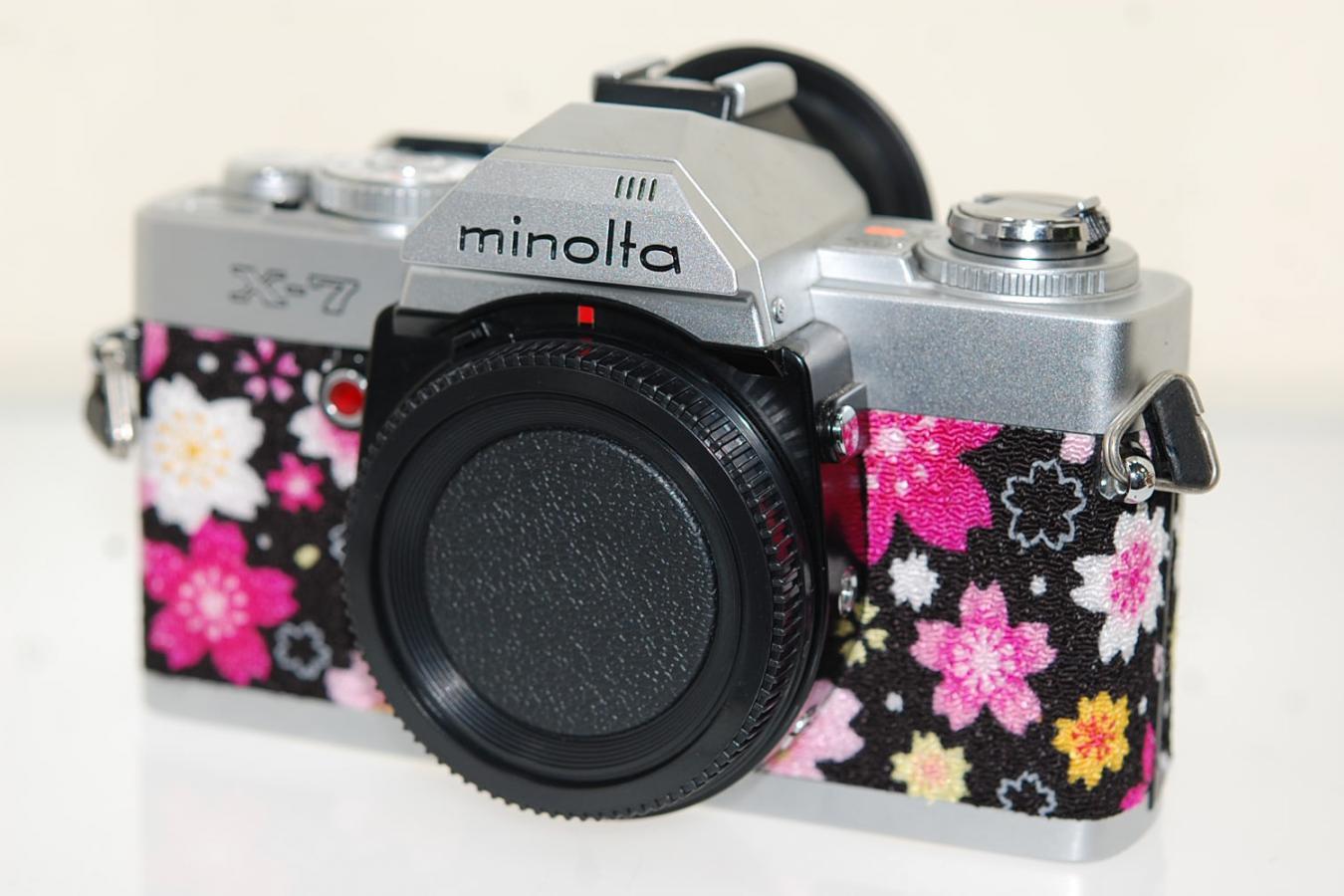 【リメイクカメラ】 minolta X-7 【モルト交換済 純正アイカップ付】