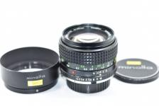 MINOLTA MC ROKKOR-PG 50mm F1.4 【純正メタルフード付】