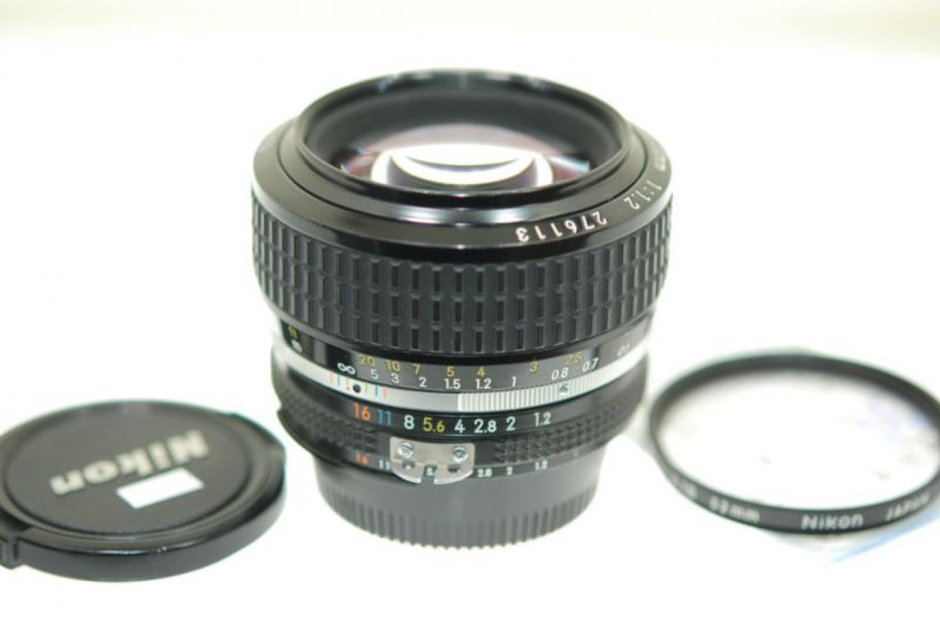 Ai-S NIKKOR 50mm F1.2 【整備済 純正52mmL1Bフィルター付】
