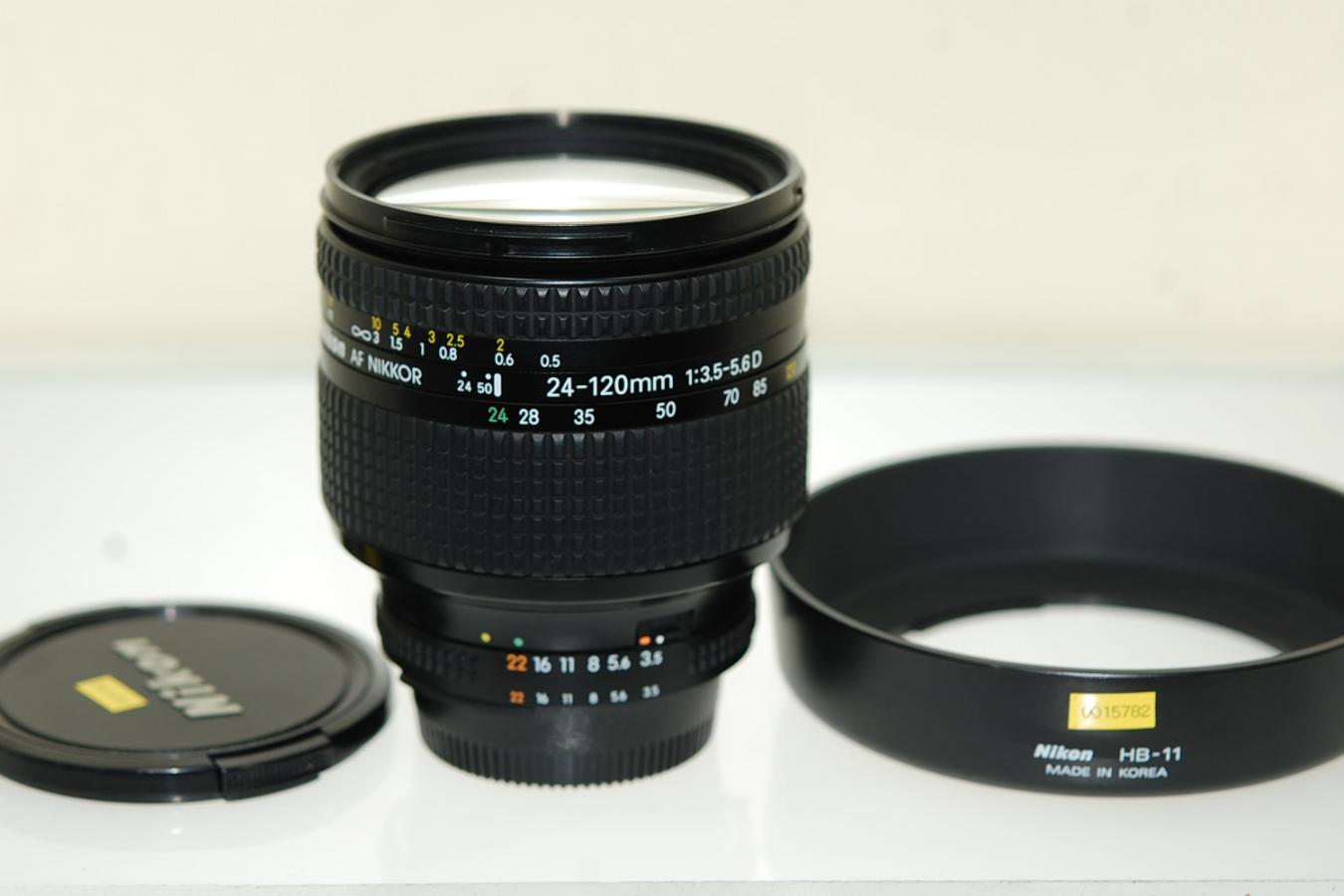 AF NIKKOR 24-120mm F3.5-5.6D 【純正フードHB-11付】