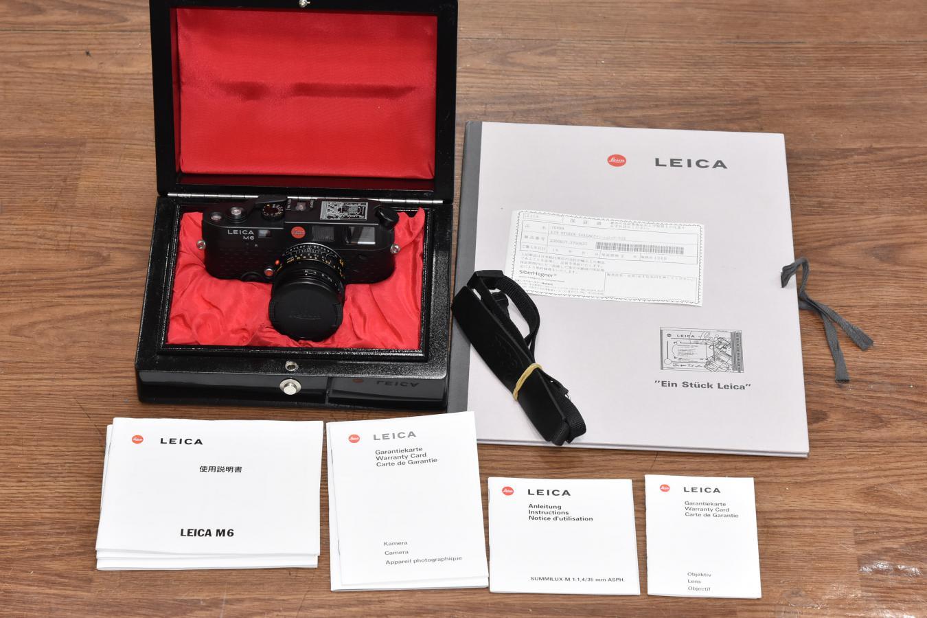 【コレクション向け】 ライカ M6 EIN STUECK LEICA ズミルックスM 35/1.4ASPH.付 【1996年ライカ社株式公開記念限定996台】