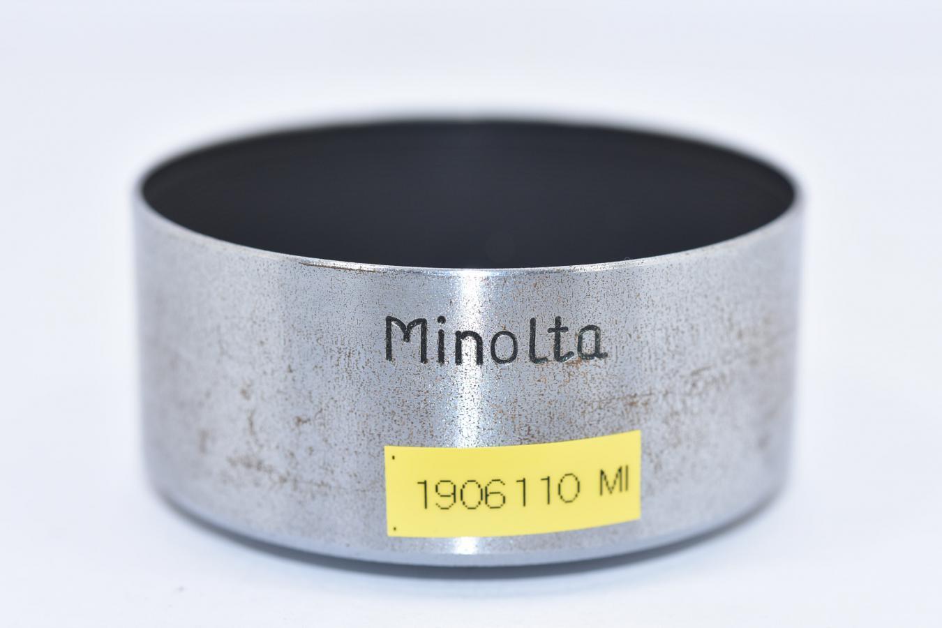 【希 少】 ミノルタ L45/2.8用純正メタルフード 【通称:梅鉢レンズ用純正メタルフード】