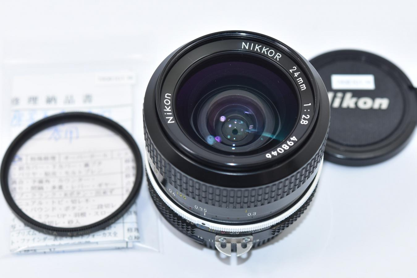 NEW NIKKOR 24mm F2.8 Ai改 【整備済 純正52mmL1Aフィルター付】