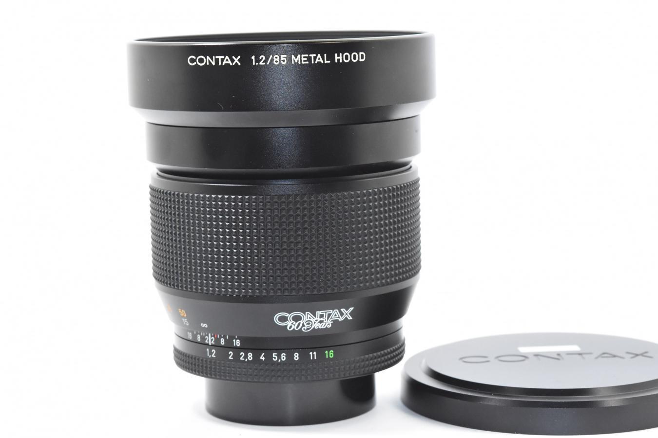 【希 少】 CONTAX Planar T* 85mm F1.2 MMG 60周年記念モデル 【純正メタルフード付】