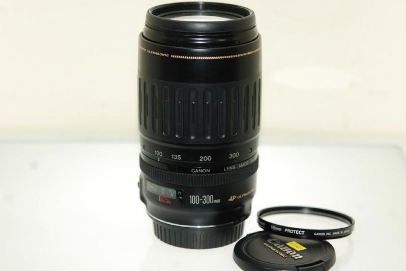 キャノン EF100-300mm F4.5-5.6 USM 【純正58mmプロテクトフィルター付】