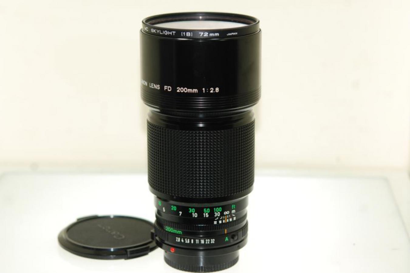キャノン NEW FD 200mm F2.8 【ケンコー製72mmMCスカイライトフィルター付】