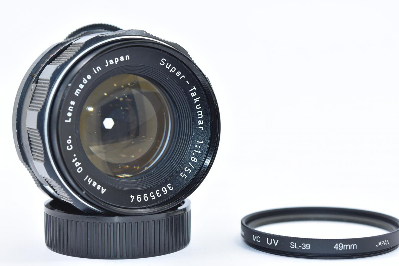 PENTAX Super-Takumar 55mm F1.8 ケンコー製49mmMC UVフィルター付 【カメラ女子に絶大な人気のオールドレンズ M42マウントレンズ】