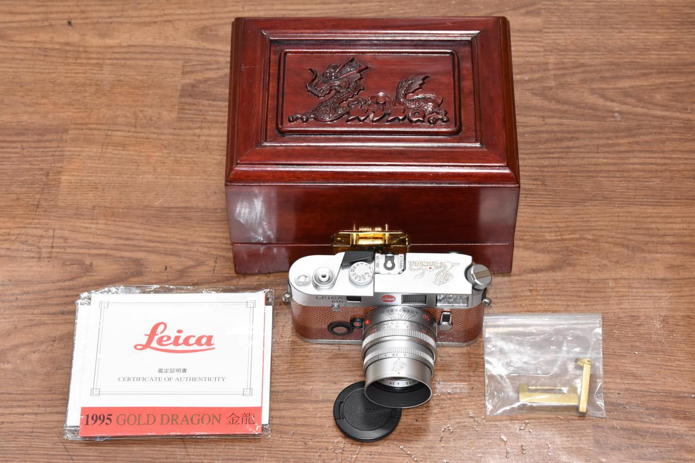 【コレクション向け 珍 品】 LEICA M6 GOLD DRAGON EDITION SUMMICRON-M 50/2 Set 【ギャランティカード、専用木箱付】