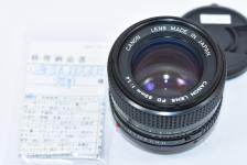 Canon NEW FD 50mm F1.4 【整備票】