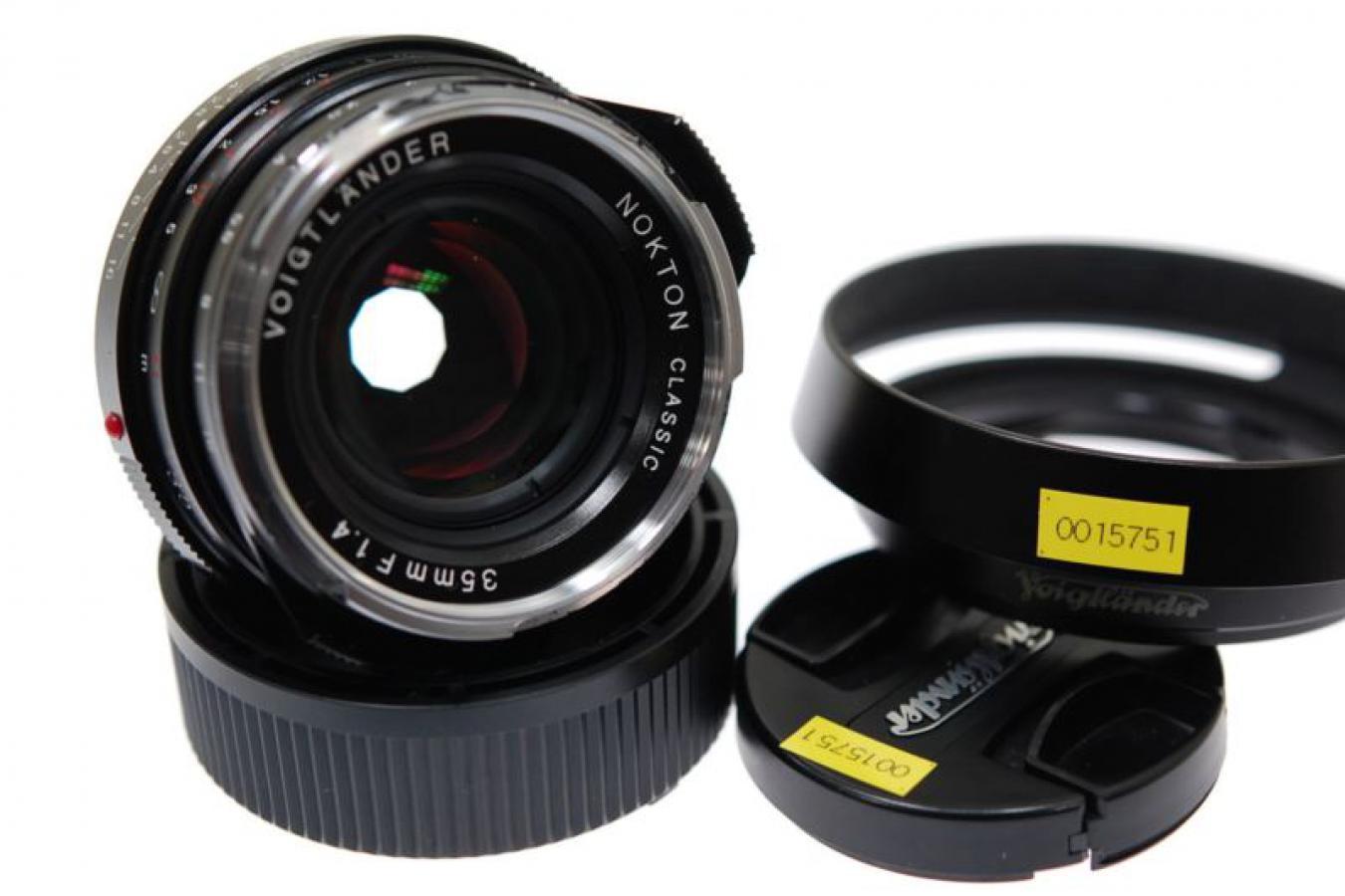 フォクトレンダー NOKTON CLASSIC 35mm F1.4 MC 純正フードLH-6付 【ライカMマウントレンズ】