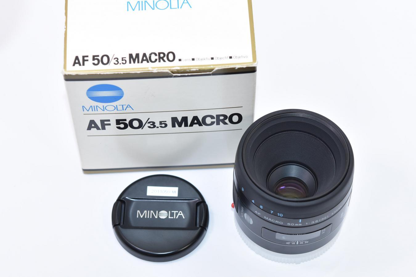 MINOLTA AF 50mm F3.5 MACRO NEW 【元箱付】