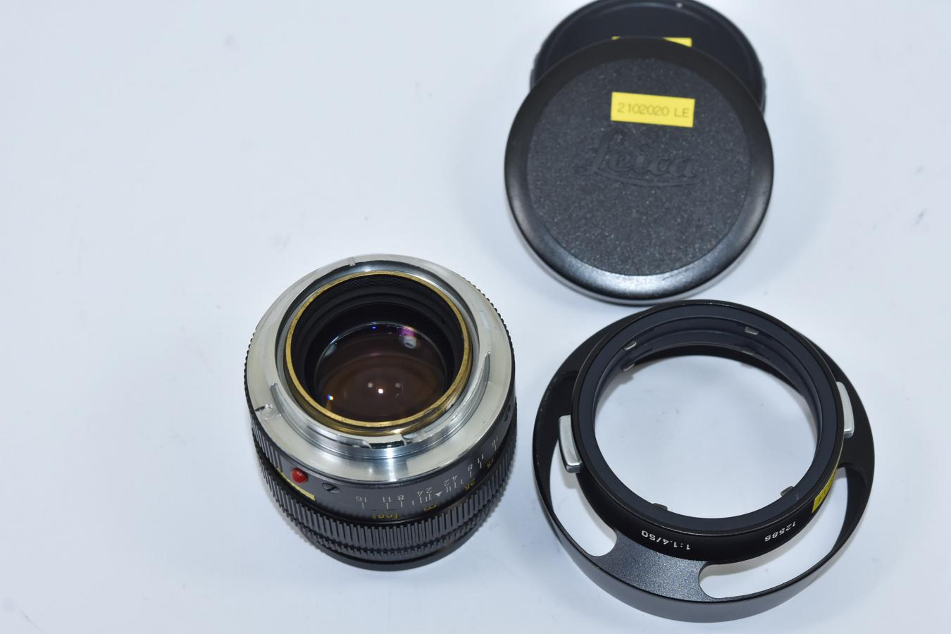 LEICA SUMMILUX-M 50mm F1.4 ブラック 純正フード12586付 【256万台 1973年製】