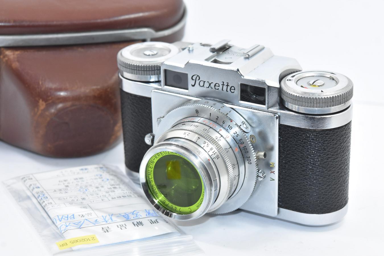 【希 少】BRAUN Paxette POINTAR 45/2.8付 【整備済 純正ケース付】