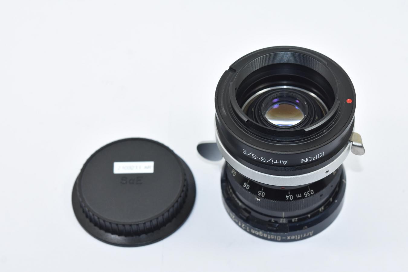 【希 少】Carl Zeiss Arriflex-Distagon 24mm F2 T2.2 ARRIFLEX STD 【KIPON製 Arri/S-S/Eマウントアダプター付】